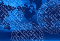 binär värld Arkivbilder