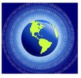binär värld Royaltyfri Bild