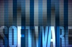 Binära blått för bakgrund för programvaruteknologi Arkivbilder
