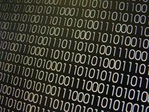 binära koder arkivfoto