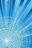 Binäre Codes auf Technologiehintergrund Stockfoto