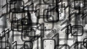 Binäre Computerdaten lizenzfreie abbildung