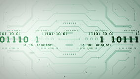 Binäre Datenströme grüner Lite