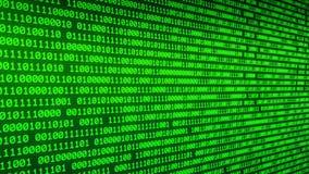 Binäre Digital, die durch glühende Zweiheit umzieht, ummauert Hintergrund der gelegentlichen Zahlen 2 stock video