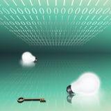 Binäre Schlüsselidee Stockfotos