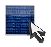 Binäre Tastencursor-Abbildungauslegung Stockfotos
