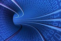 Binäre Tunnelgeschwindigkeit Stockfotos