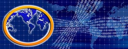 Binäre Welt Stockfoto