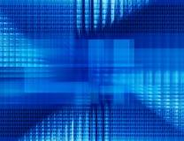 Binärer blaue Hintergrund der abstrakten Technologie Stockbild