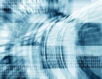 Binärer blaue Hintergrund der abstrakten Technologie Lizenzfreie Stockfotos