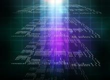 Binärer bunte Computercode Stockfotografie