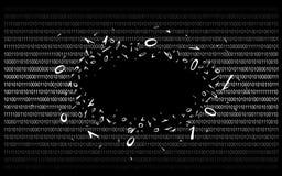 Binärer Code auf schwarzem v1 Lizenzfreies Stockfoto