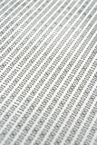 Binärer Code-Auszug. Stockfotografie