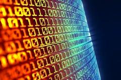 Binärer Code backgroud Stockfotos