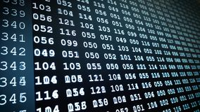 Binärer Computercode - Computertechnologie stock footage