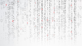 Binärer Cyberspace-Hintergrund Kodierungs- oder Hackerkonzept Matrix-Art Auch im corel abgehobenen Betrag lizenzfreie abbildung