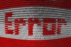 Binärer Fehlercode Stockfoto