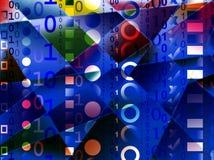 Binärer Hintergrund Lizenzfreies Stockfoto