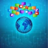 Binärer Hintergrund mit Planeten Lizenzfreies Stockfoto