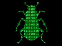 Binärer Programmfehler Stockfoto