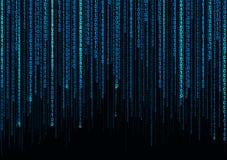 Binärer Regenbogen-Zusammenfassungs-Technologie-Hintergrund vektor abbildung