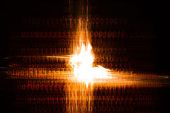Binäres Chaos Stockfotografie
