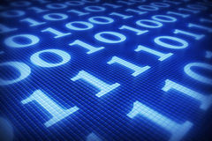 Binäres flache Konzept Lizenzfreies Stockfoto