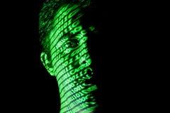 Binäres Gesicht 1 lizenzfreie stockfotografie