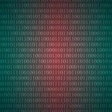 Binäres nahtlose Muster mit einem null Stockfotos
