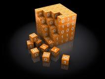 Binäres Puzzlespiel Stockfotos