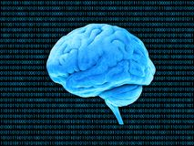 Binäres System Digital-Gehirns Stockfotografie