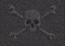Binäres Virus lizenzfreie abbildung