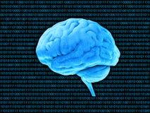 Binärt system för Digital hjärna Stock Illustrationer
