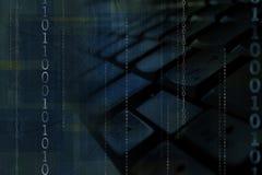 binärt tangentbord Arkivbild