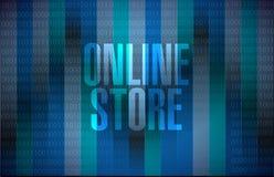 binärt teckenbegrepp för online-lager Royaltyfri Bild