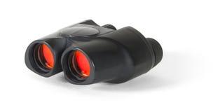 Binóculos compactos com lentes vermelhas - com trajeto de grampeamento Fotografia de Stock