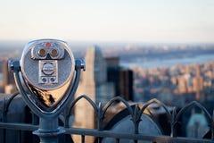 Binóculos da plataforma de observação Fotografia de Stock