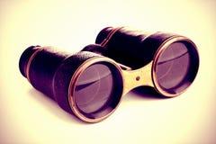 Binóculos do vintage isolados Foto de Stock Royalty Free