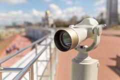 Binóculos estacionários da observação Fotografia de Stock