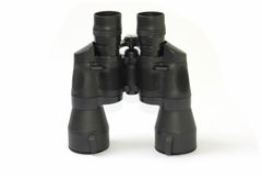 Binóculos pretos isolados Fotografia de Stock Royalty Free