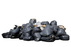 Bin bag isolated  white background Stock Images