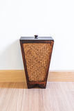 Bin from bamboo Stock Image