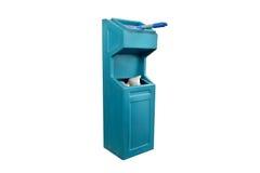 Bin. Blue plastic trash isolated on white background Stock Images