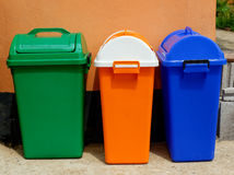 Bin. Colorful bin Many different colorful garbage bin containers Stock Photo