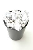 Bin filled with paper Stock Photos
