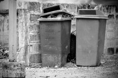 Bin full of rubbish Stock Images