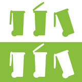 Bin Icon Set Stock Images