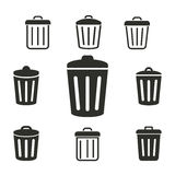 Bin icon set. Bin vector icons set. Illustration isolated for graphic and web design Stock Illustration