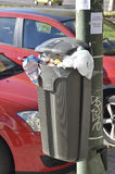 Bin on a lamppost Stock Photo