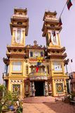 Bin luc temple in Vietnam. The temple of the Coa Daism sect, it contains elements of Buddhism, taoism, spiritualism, Christianity and Islam Royalty Free Stock Photography